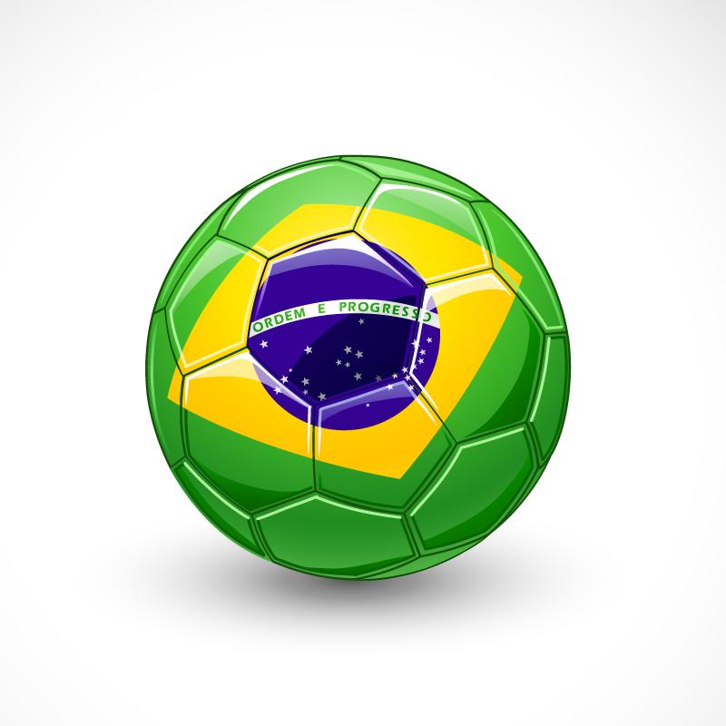 Brazil Flag Soccer Vector