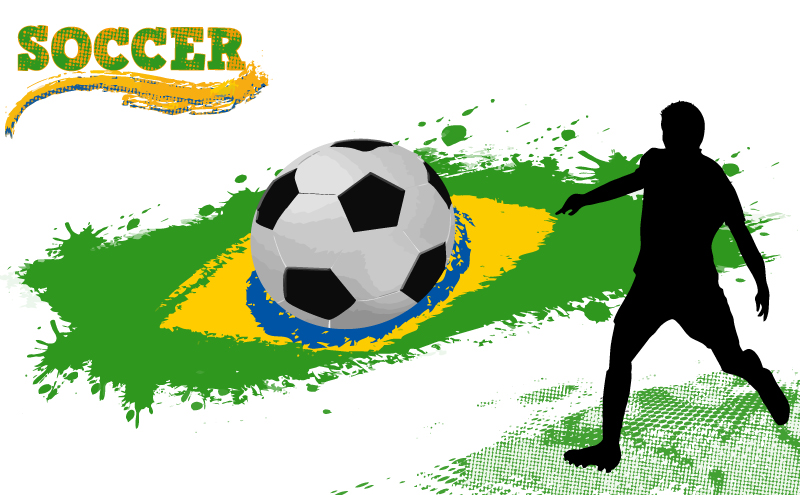 Brazil Soccer Ink Jet Vector
