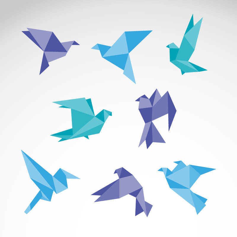 Color Origami Dove Vector | Free Vector Graphic Download