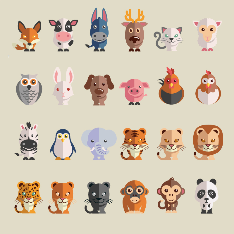 The Art Of Animal Character Design Pdf Free Download : Cute cartoon animals vector free graphic download