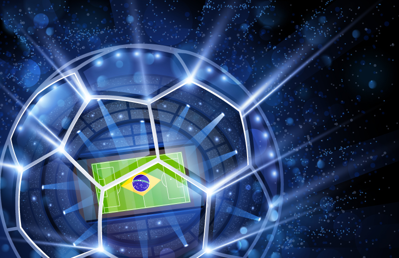 Fantasy Brazil World Cup Stadium Vector