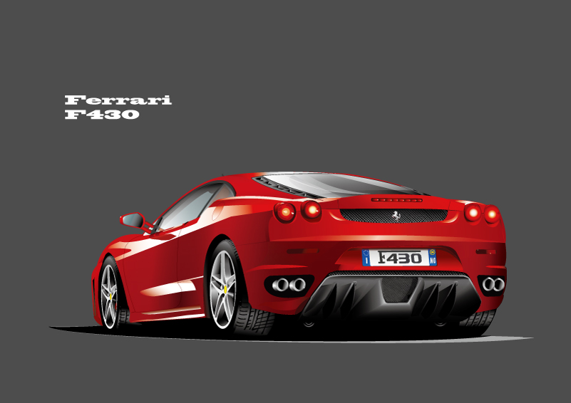 Ferrari F430 Sports Car Vector  Free Vector Graphic Download