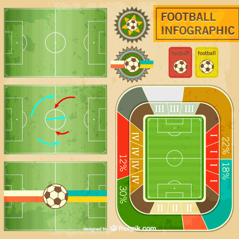 Football Infographic Vector