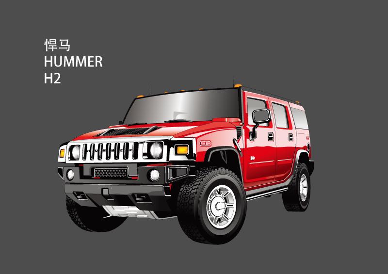 Hummer H2 Vector