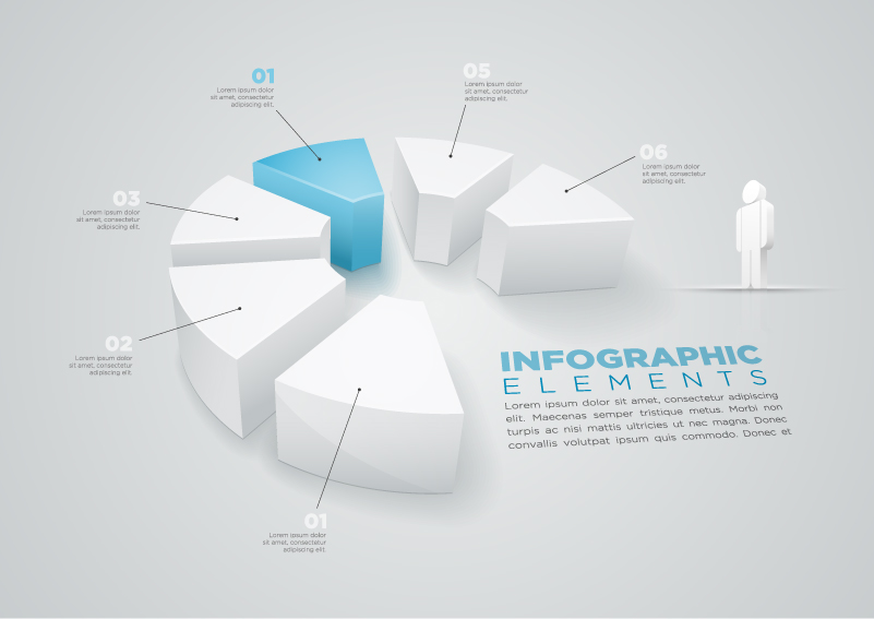 Infographic Pie Chart Info Vector