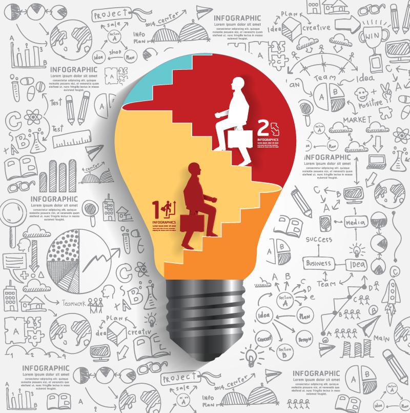 Infographics Brainstorm Creative Vector