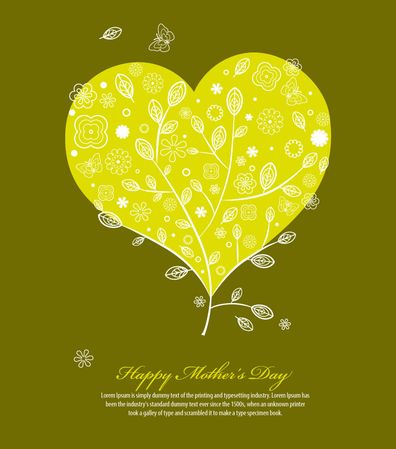 Lemon Yellow Floral Love Background Vector | Free Vector ...