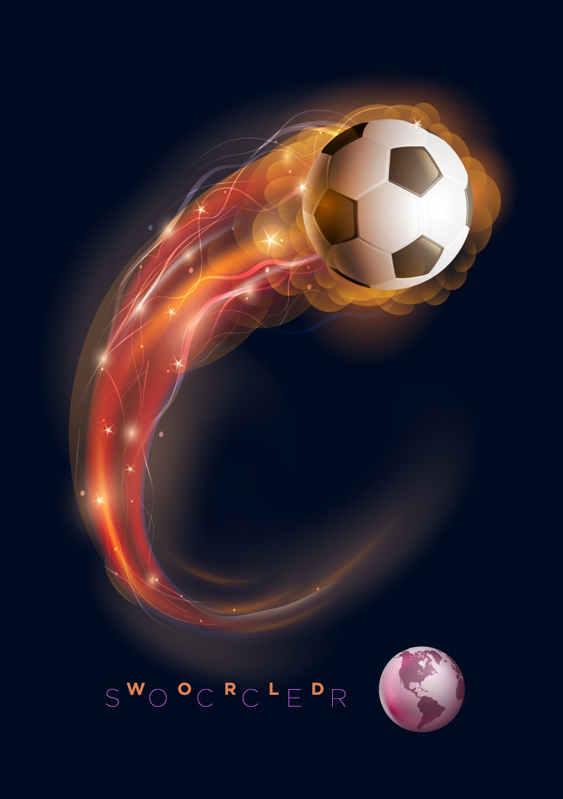 Motion World Soccer Vector