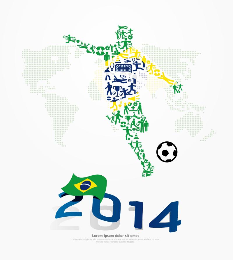 Soccer Sport 2014 Vector