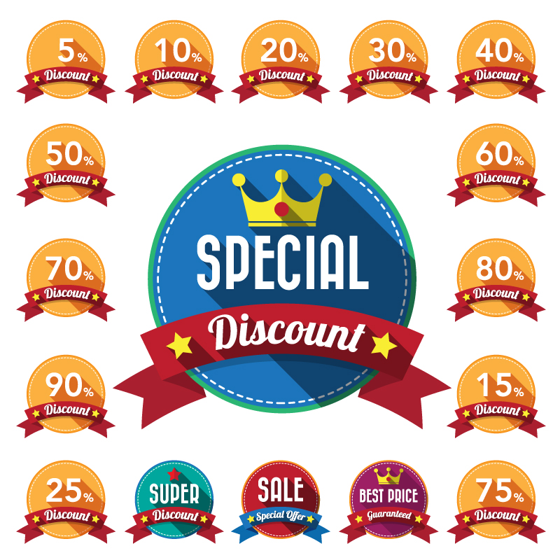 Special Discount Ribbon Vector