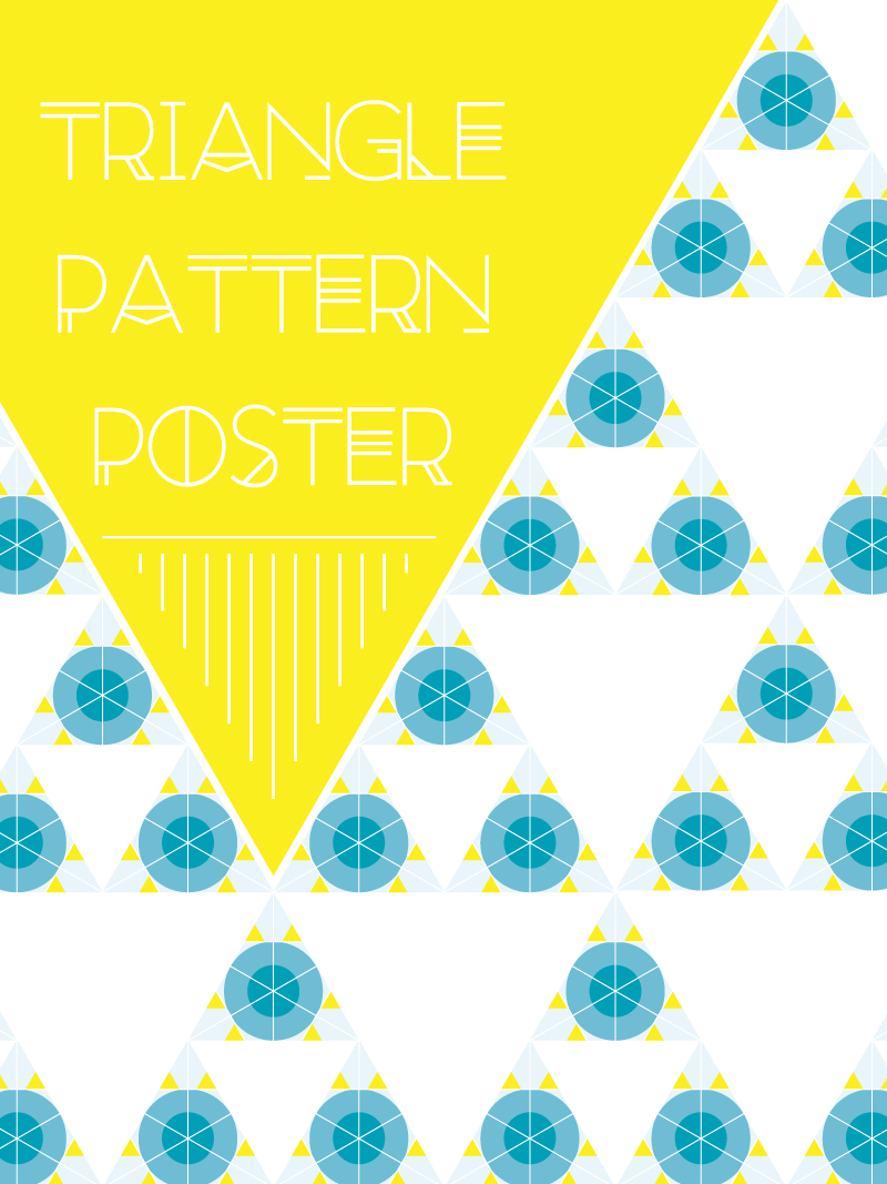Triangle Pattern Poster Vector