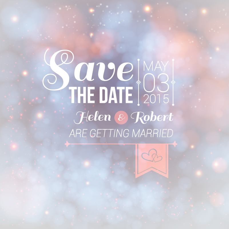 Wedding Save the Data Vector