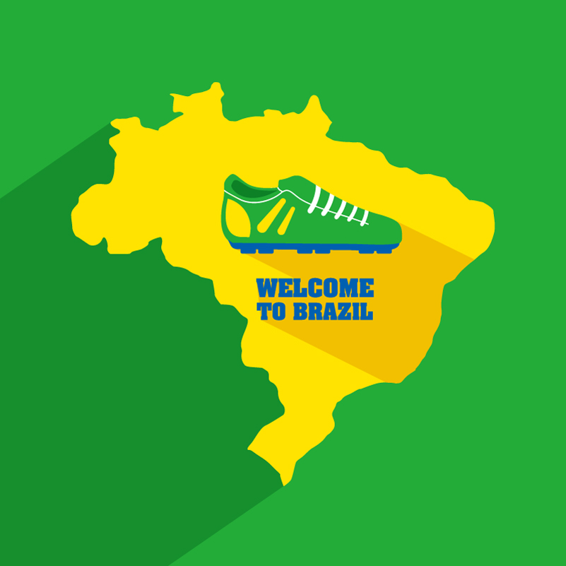 Welcom To Brazil Vector