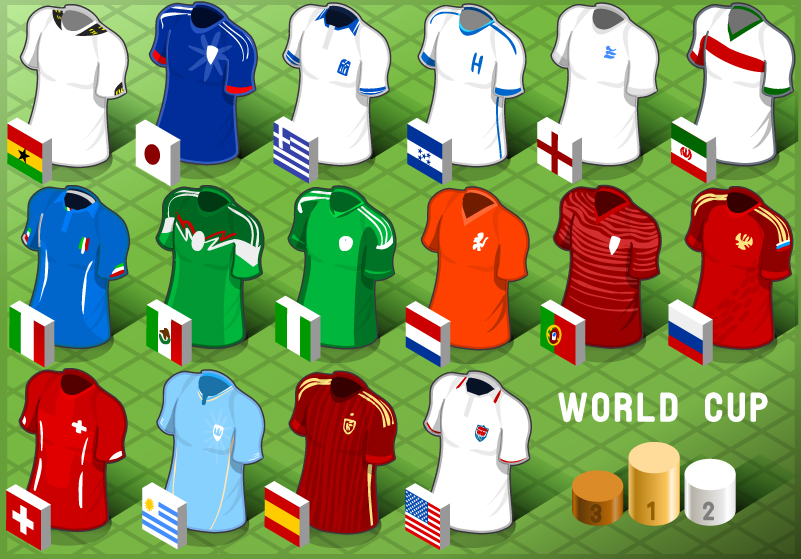 World Cup Teams and Jersey Vector