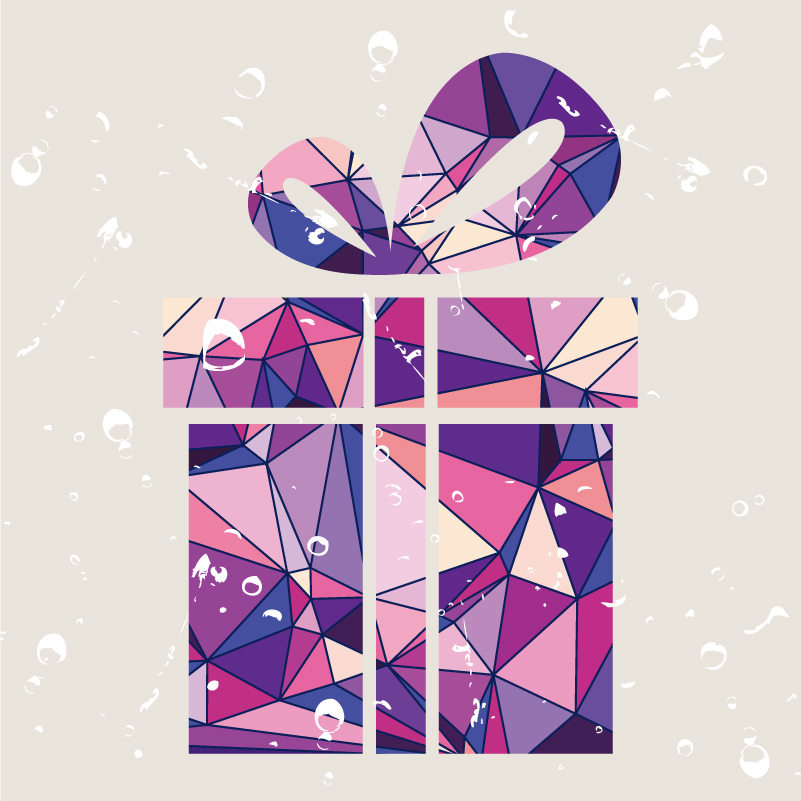 Abstract Gift Objects Vector