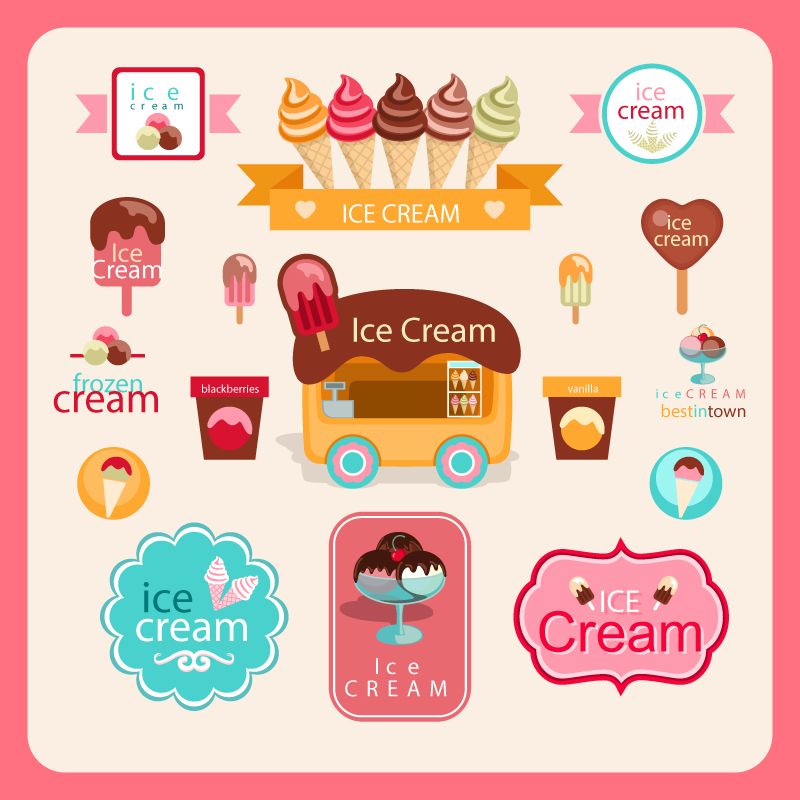 Color Ice Cream Vector