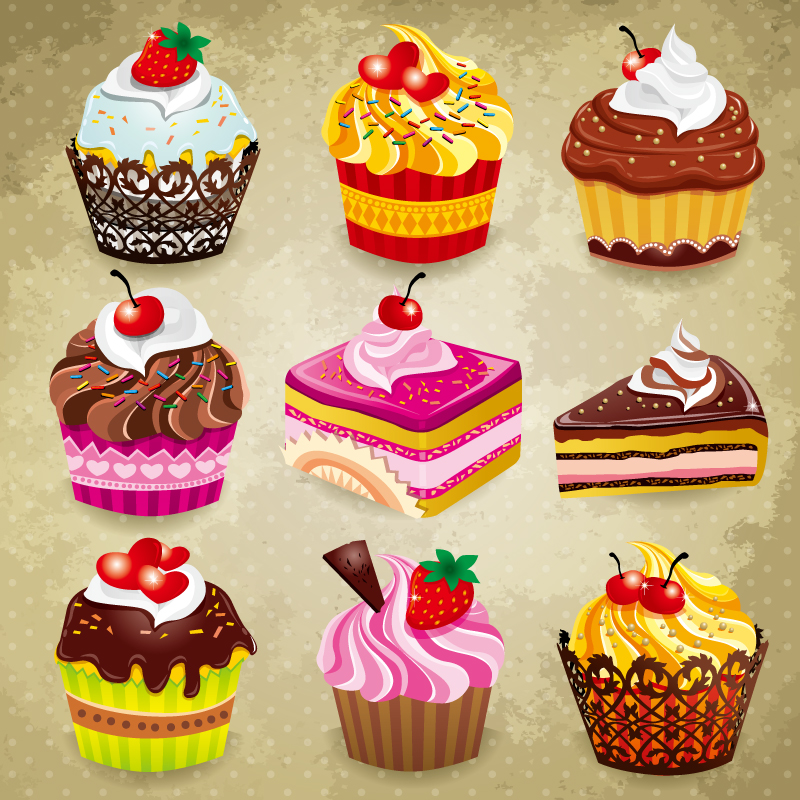 Delicious Chocolate Cake Vector