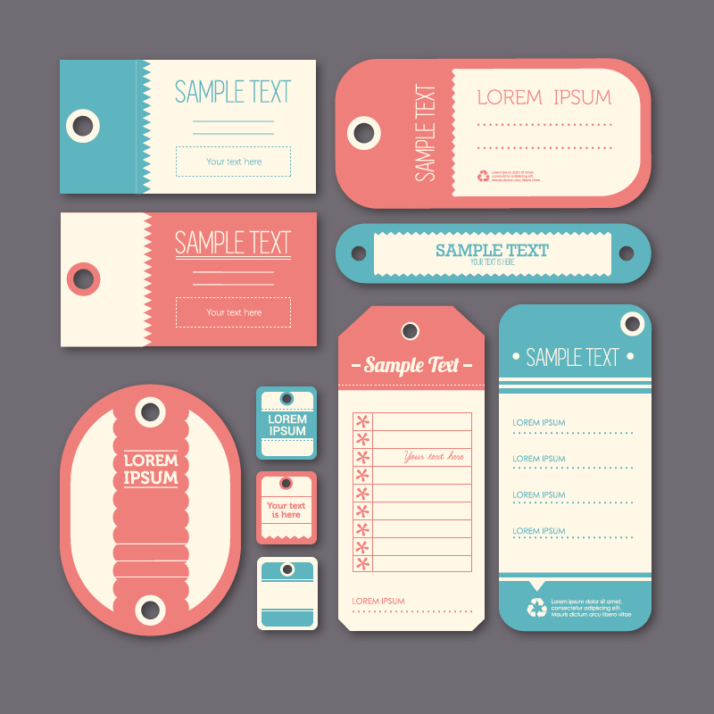 Elegant Label Design Vector