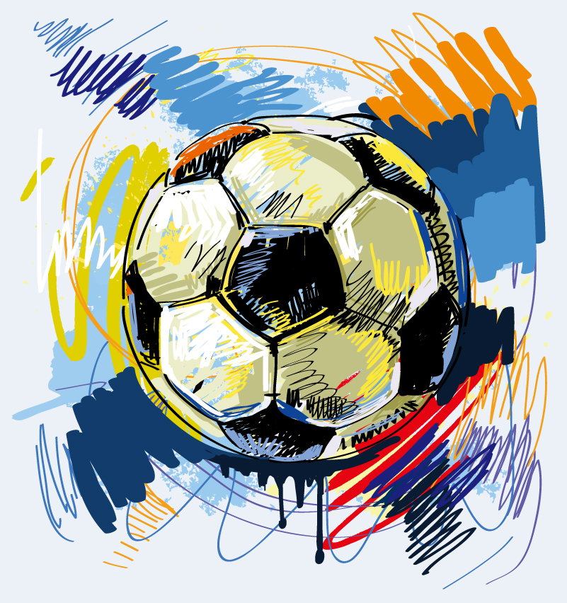 Hand Drawn Football Vector