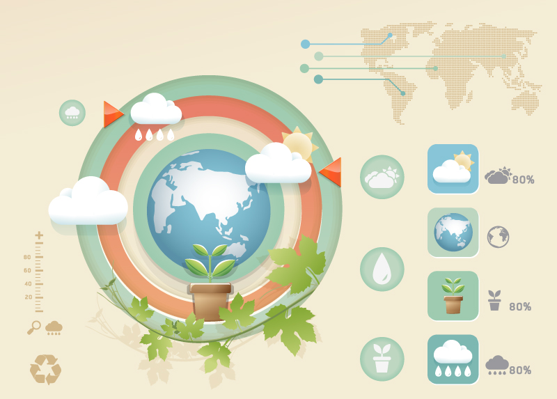 Infographic Eco Earth Vector