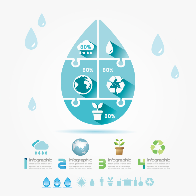 Infographic Green Recyclable Vector