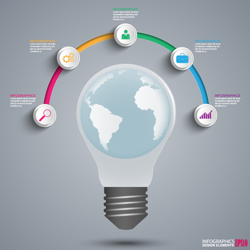 Infographics Light Earth Vector