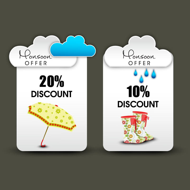 Mall Discount Offer Vector