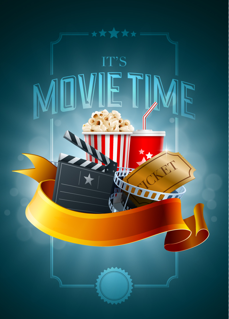 Movie Time Ticket Vector