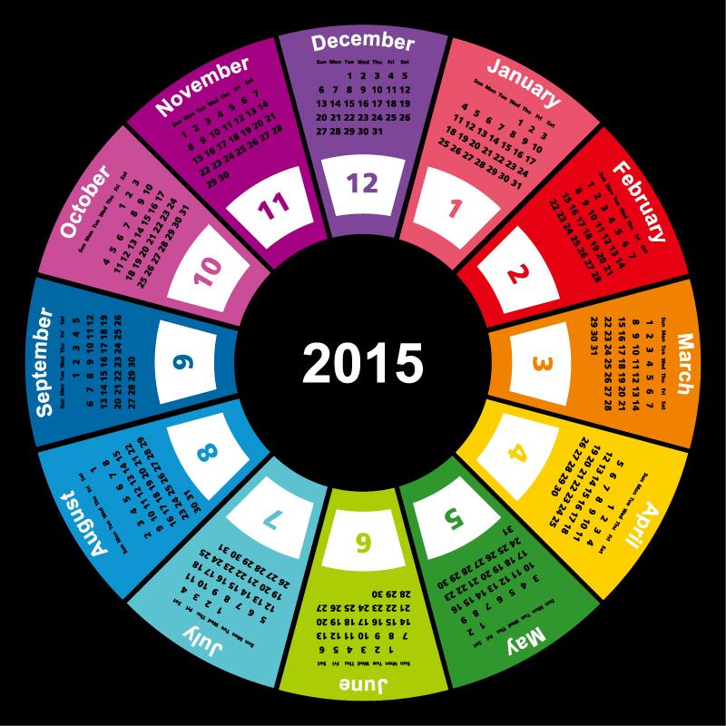 Ring Calendar 2015 Vector