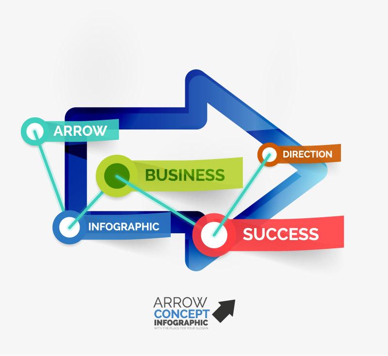 Arrow Concept Infographic Vector