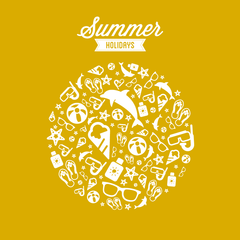 Circle Summer Holidays Vector