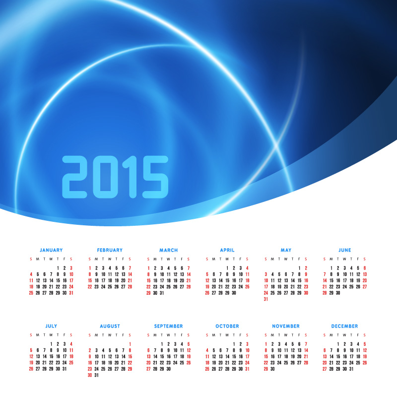 Dream Laser Calendar 2015 Vector
