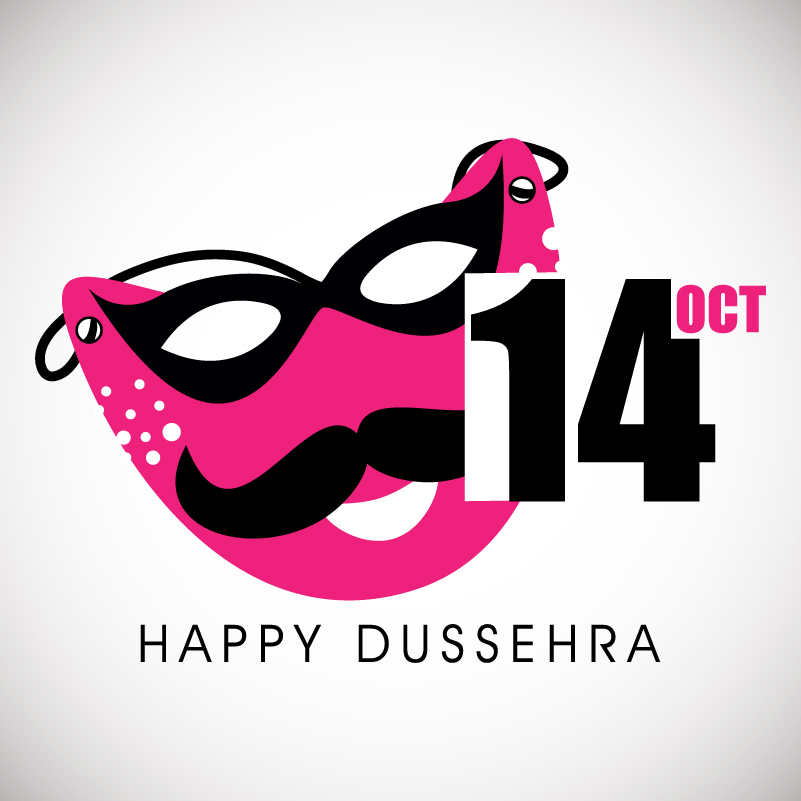 Happy Dussehra Masks Vector