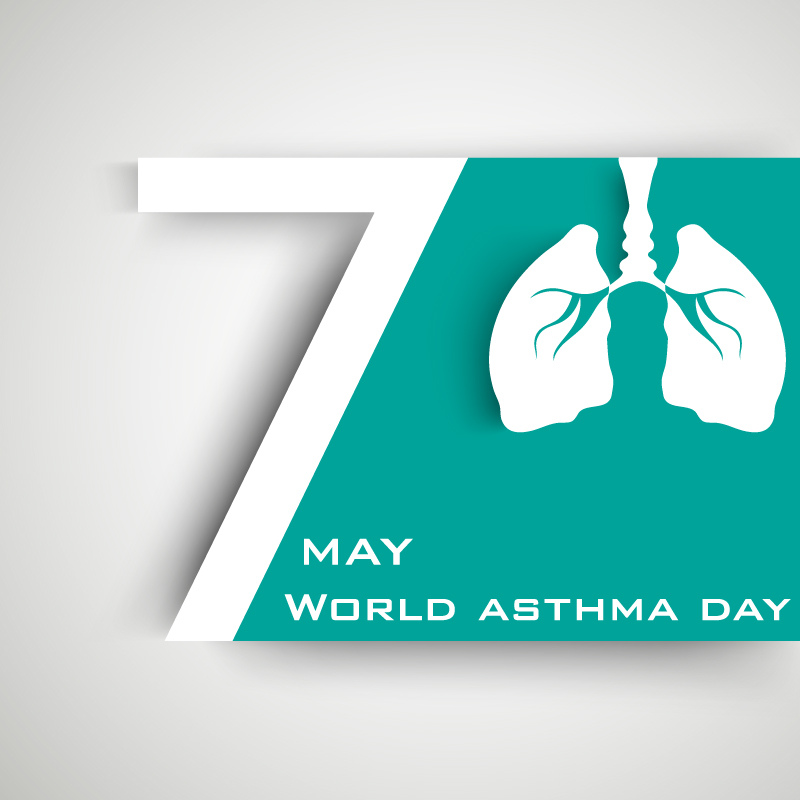 May 7 World Asthma Day Vector