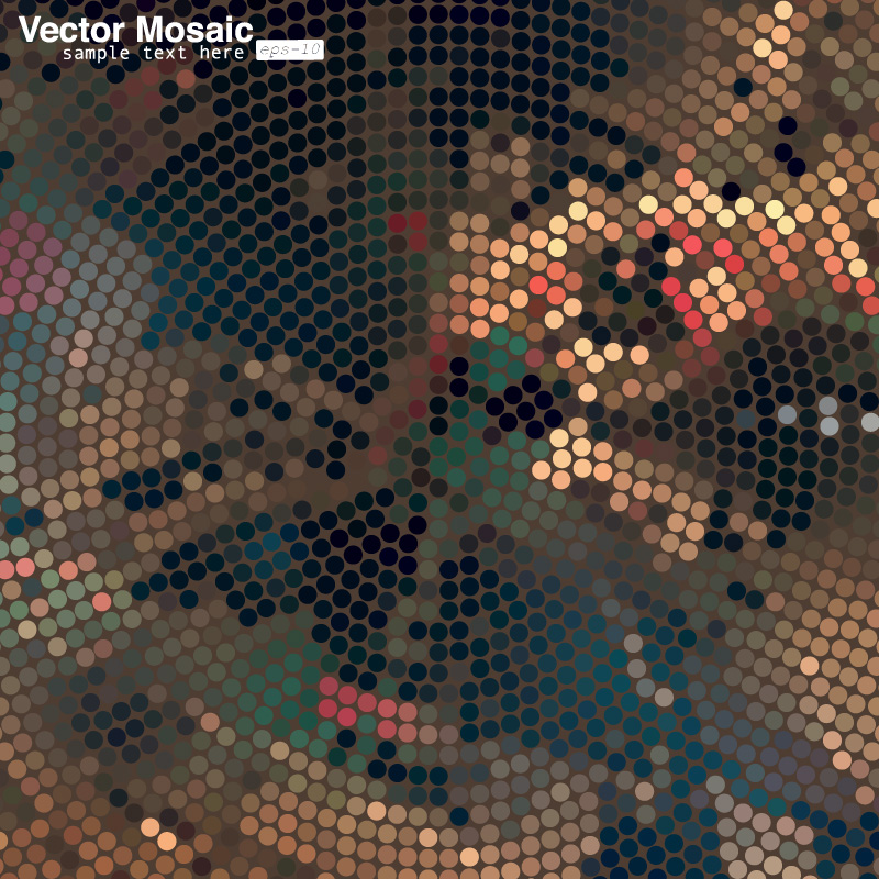 Mosaic Filter Background Vector