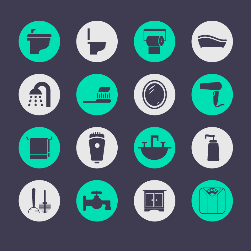 Round Toiletries Icon Vector