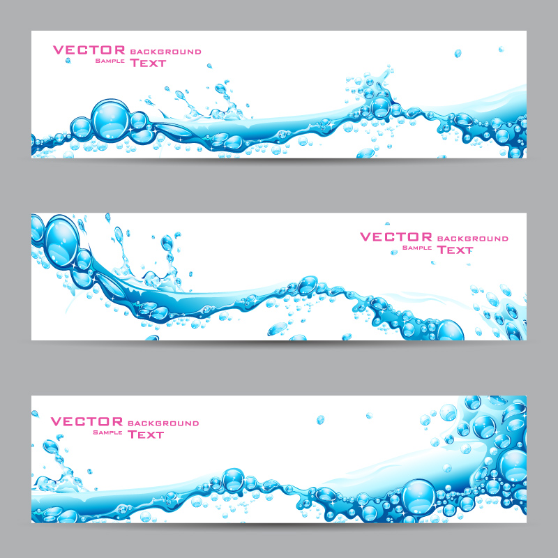 Splash Wave Banner Vector