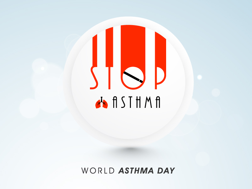 Stop Asthma World Asthma Day Vector