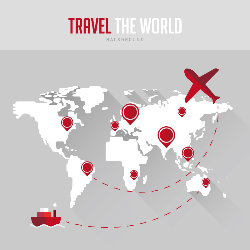 Travel the World Background Vector