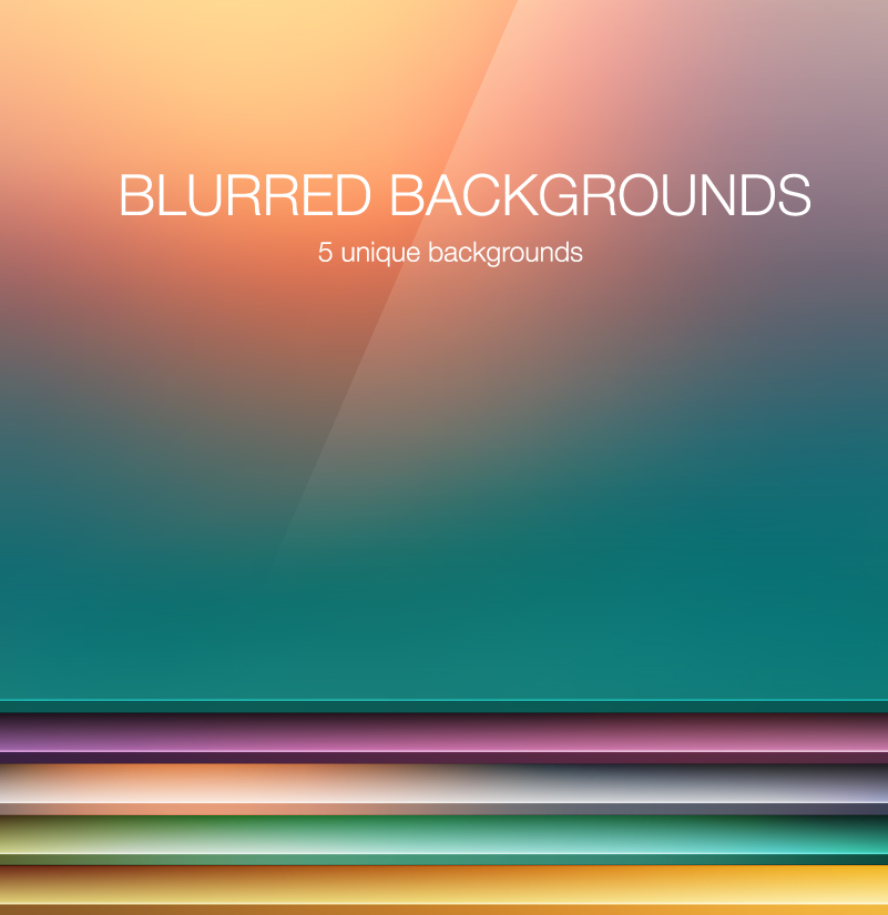 Unique Blurred Backgrounds Vector