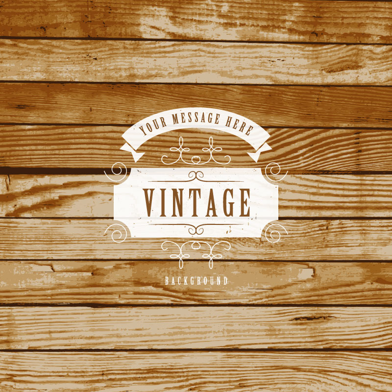 Vintage Wood Background Vector : Free Vector Graphic Download