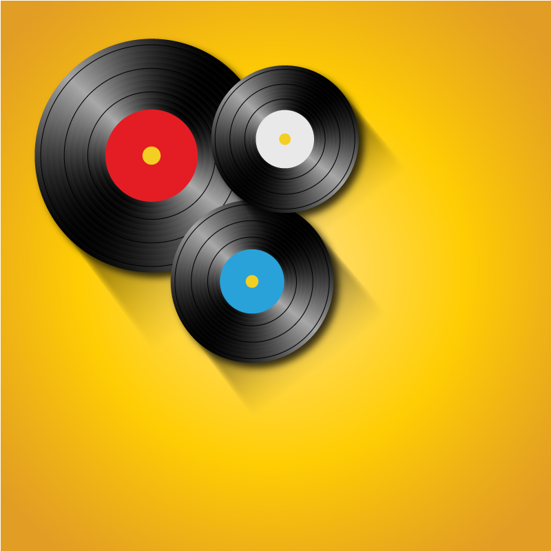Vinyl CD Background Vector