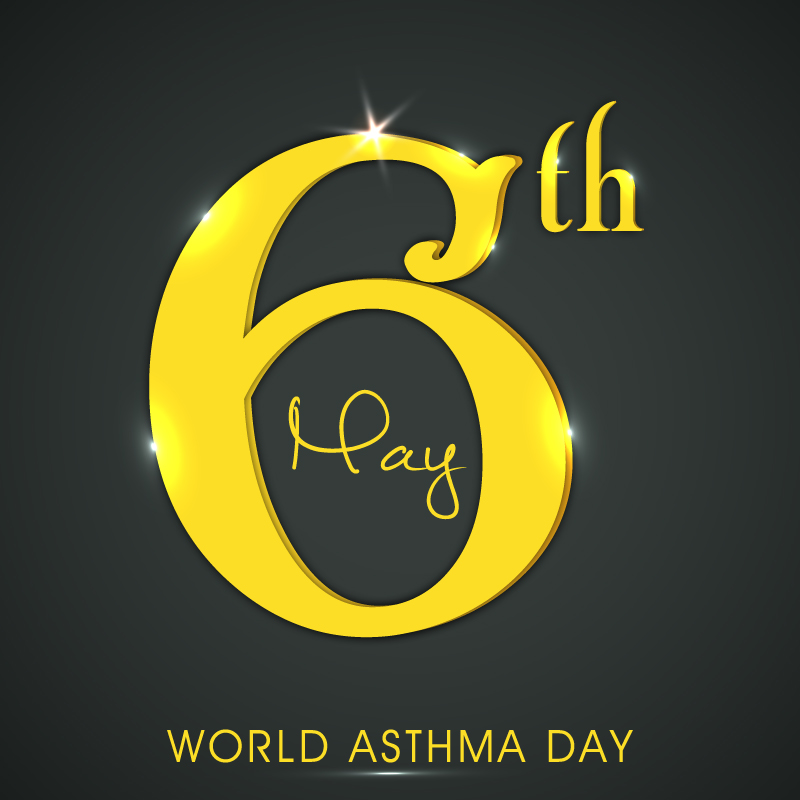 World Asthma Day Date Design Vector
