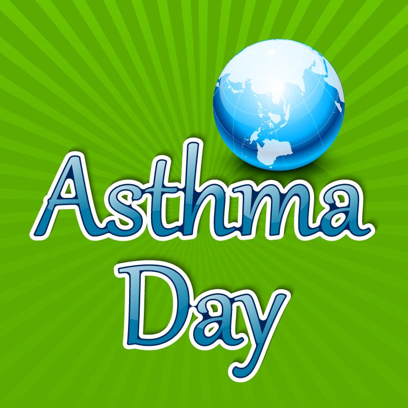 World Asthma Day Earth Vector