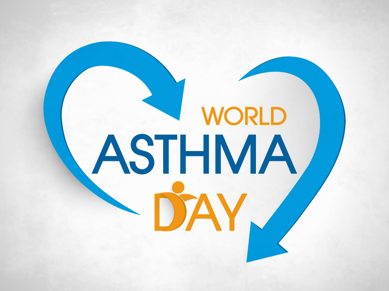 World Asthma Day Heart-shaped Arrow Vector