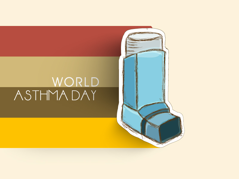 World Asthma Day Line Pipe Vector