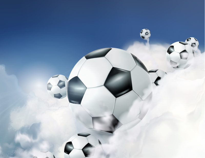 Cloud Soccer Background Vector