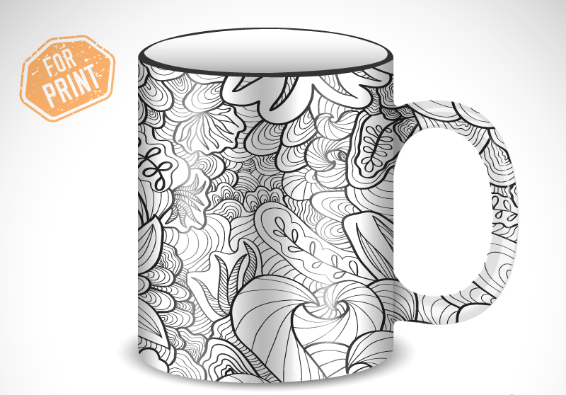 Fashion Pattern Cup Cover Design Vector