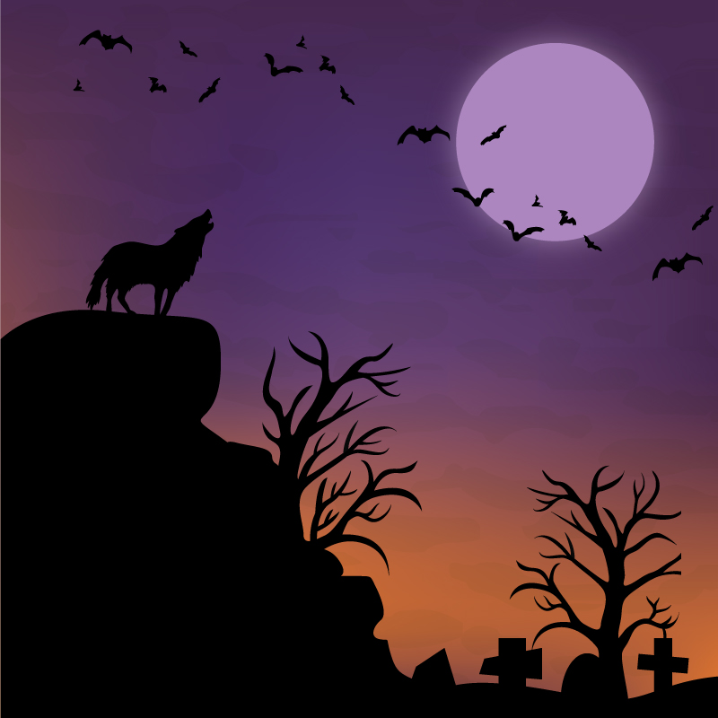 Halloween Wilderness Background Vector