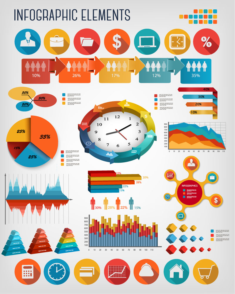 Infographics Business Elements Design Vector